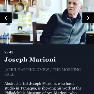 Joseph Marioni, artist/resident of Tamaqua, PA, featured in Arts by The Morning Call